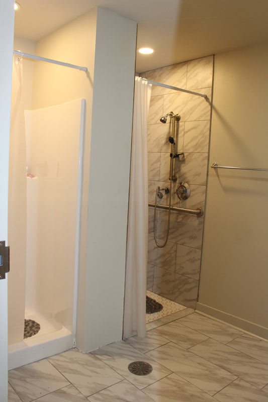 Drop-In Center Shower Room